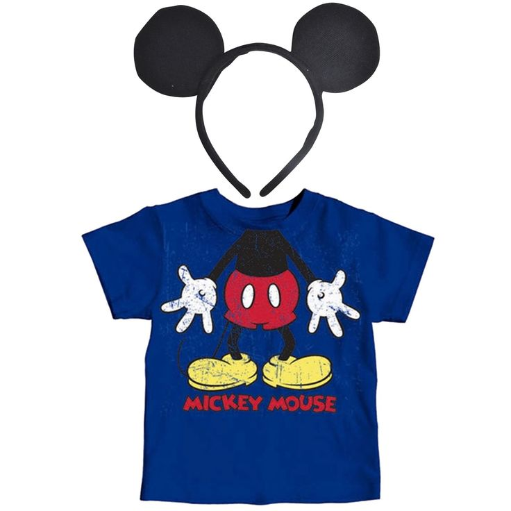 Mickey Mouse Toddler Costume T-Shirt & Mickey Ears