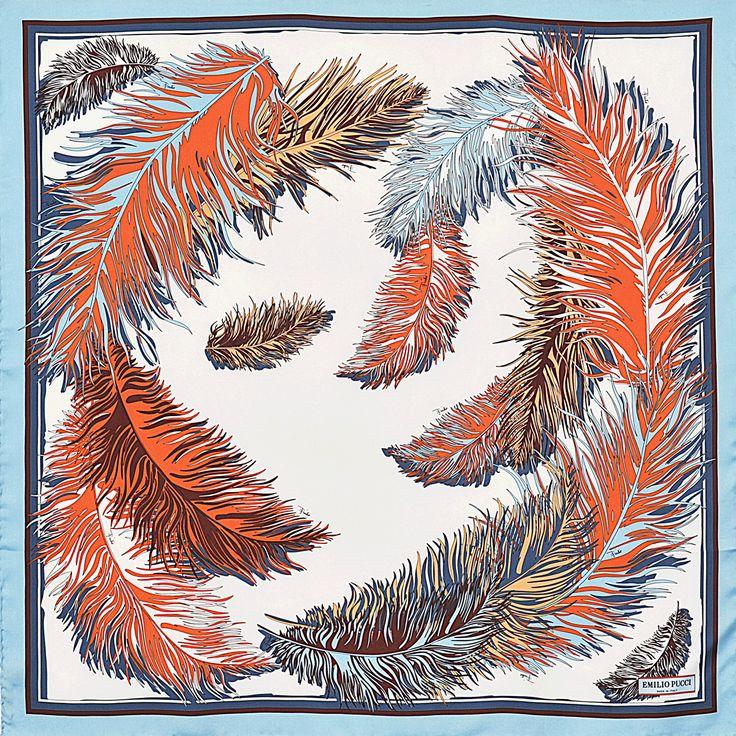 90x90 Printed Silk Square Emilio Pucci Printed - Monnier Frères