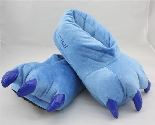 Disney lilo and Stitch Cosplay Adult Shoes Stitch Plush Slipper Pink Blue GREEN