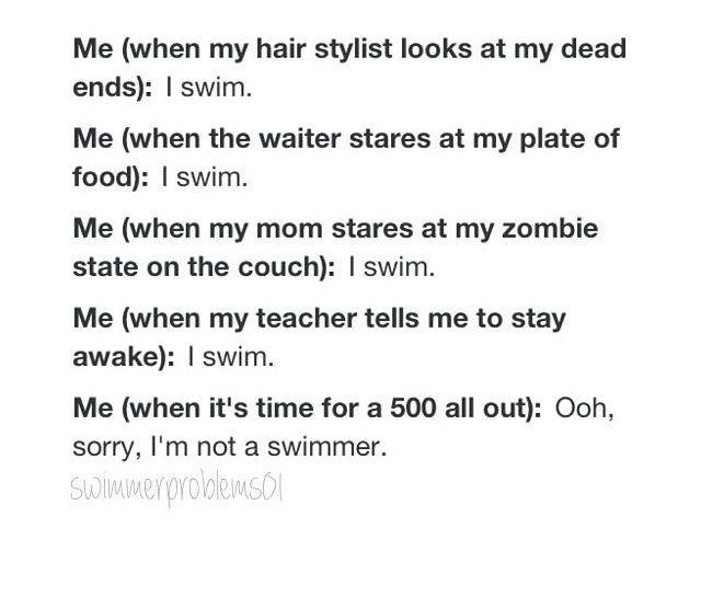 I swim!