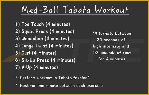 30-Minute Medicine Ball Tabata Workout