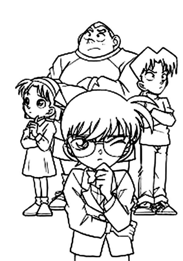 Detective Conan Coloring Pages Collection Free Coloring Sheets Cartoon Coloring Pages Kid Detectives Coloring Pages