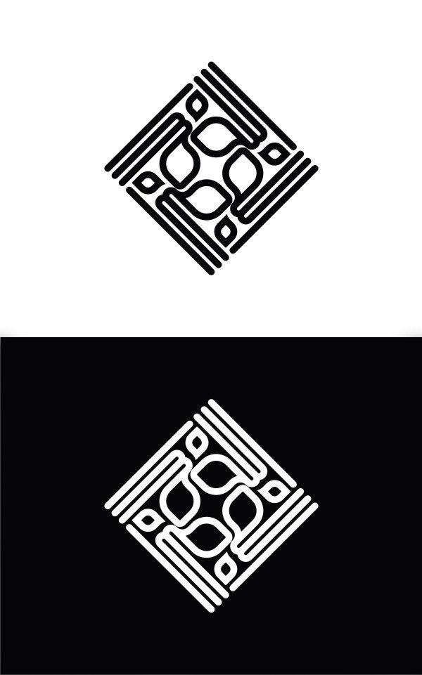 geometric logo love
