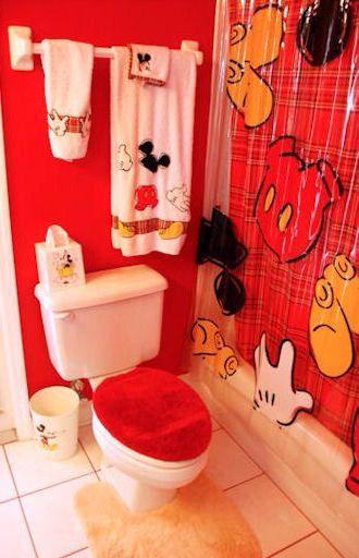 Mickey And Minnie Bathroom Decor