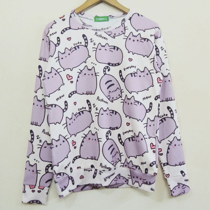 Women's Pusheen Printed Pullover Sweatshirt