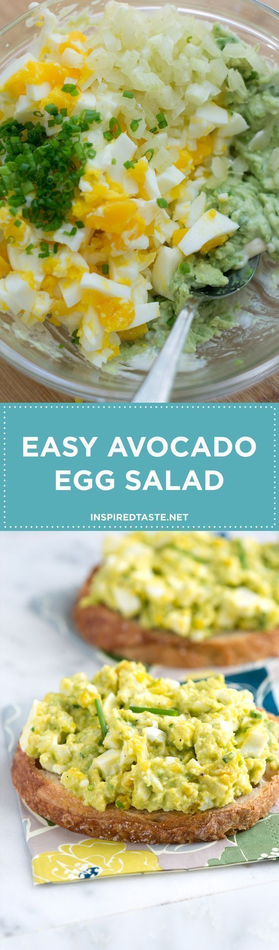 Our avocado egg salad recipe is very simple, all you need to do is mash avocado with a tiny bit of mayonnaise then stir in chopped eggs, celery, lemon juice and herbs. You could even swap nonfat or low-fat yogurt for the mayonnaise (sour cream works, too) simple paleo dinner