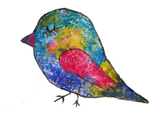 Развитие воображения ребенка (творчество) ТЕМА: Рисуем птичку солью | Азбука Ума - раннее развитие детей, игры с детьми, презентации для дошкольников