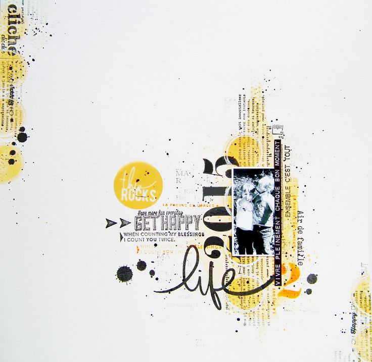 Great color scheme on this artistic scrapbook layout  - life at  Scrapbook.com