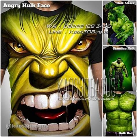 Kaos HULK, Kaos The Avengers, Kaos SUPERHERO, The Incredible Hulk, Kaos3D, Kaos 3 Dimensi, https://kaos3dbagus.wordpress.com, WA : 08222 128 3456, LINE : Kaos3DBagus