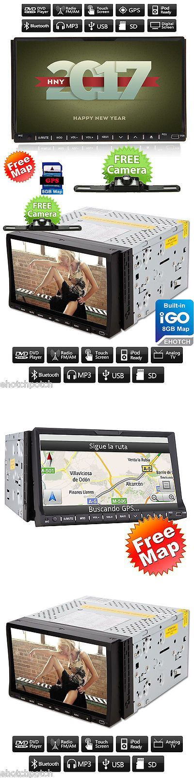Vehicle Electronics And GPS: 7 2Din In Dash Car Radio Stereo Dvd Cd Player Gps Navigation+Map Tv+Bt+Camera -> BUY IT NOW ONLY: $104.99 on eBay!