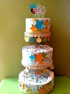 Paper_DIaper_Cake_Tutorial. This is awesome! #diapers #babies