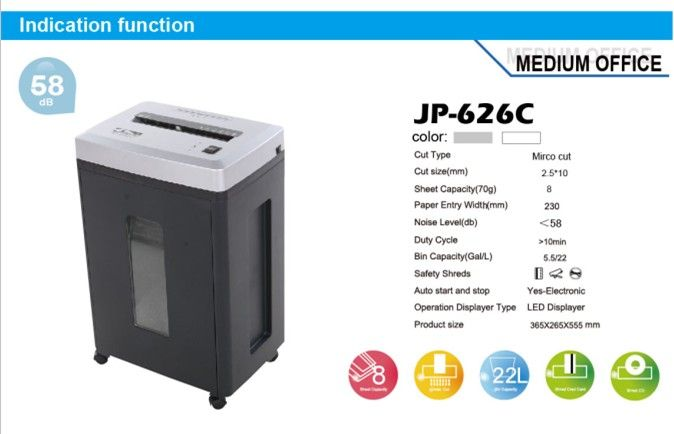 Micro Cut Heavy Duty Office Shredders With 22l Basket Doent Shredder Use Paper Electric Product On