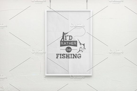 Fishing. Typography quotes. by gomolach on @creativemarket