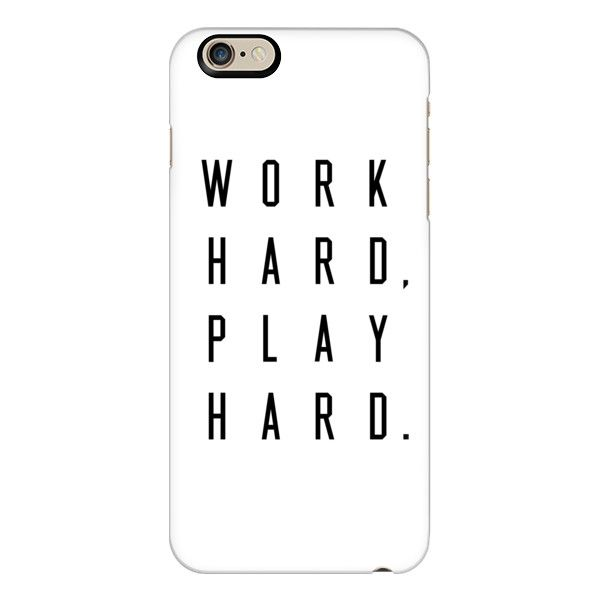 Casetify iPhone 6 Plus/6/5/5s/5c Case - Work Hard, Play Hard. ($40) ❤ liked on Polyvore featuring accessories, tech accessories, celular, iphone, phone, phone cases, iphone case, iphone 5 cover case, apple iphone 4 case and apple iphone cases