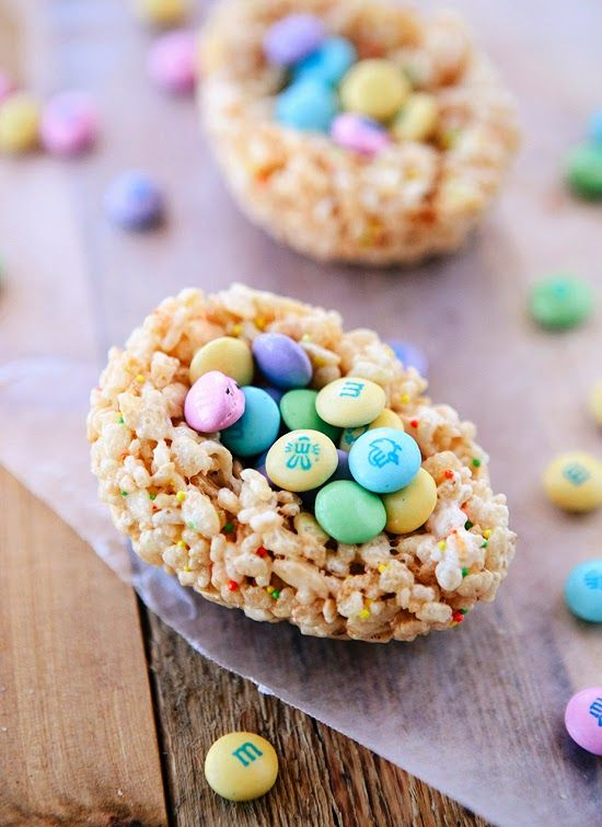 Lemon Chocolate Rice Krispies Treats for Easter - a simple project the kids can do almost entirely on their own!