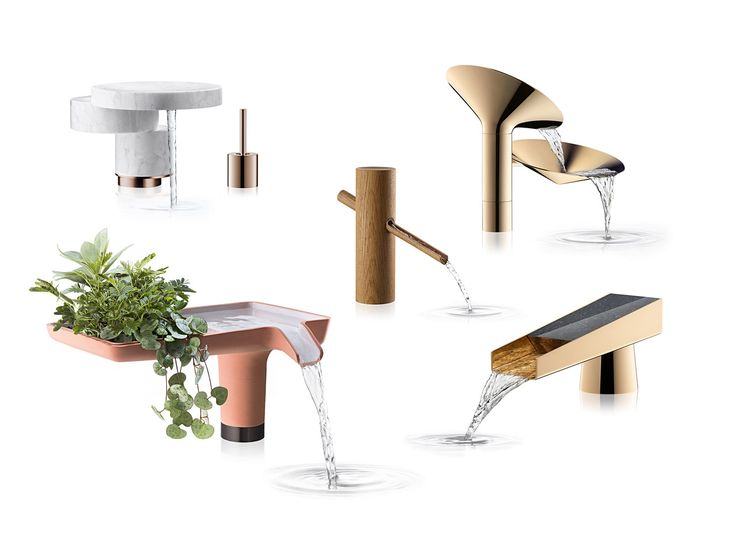 designers reimagine faucets for axor waterdream