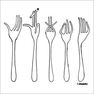 Talking Forks  Bruno Munari  1958