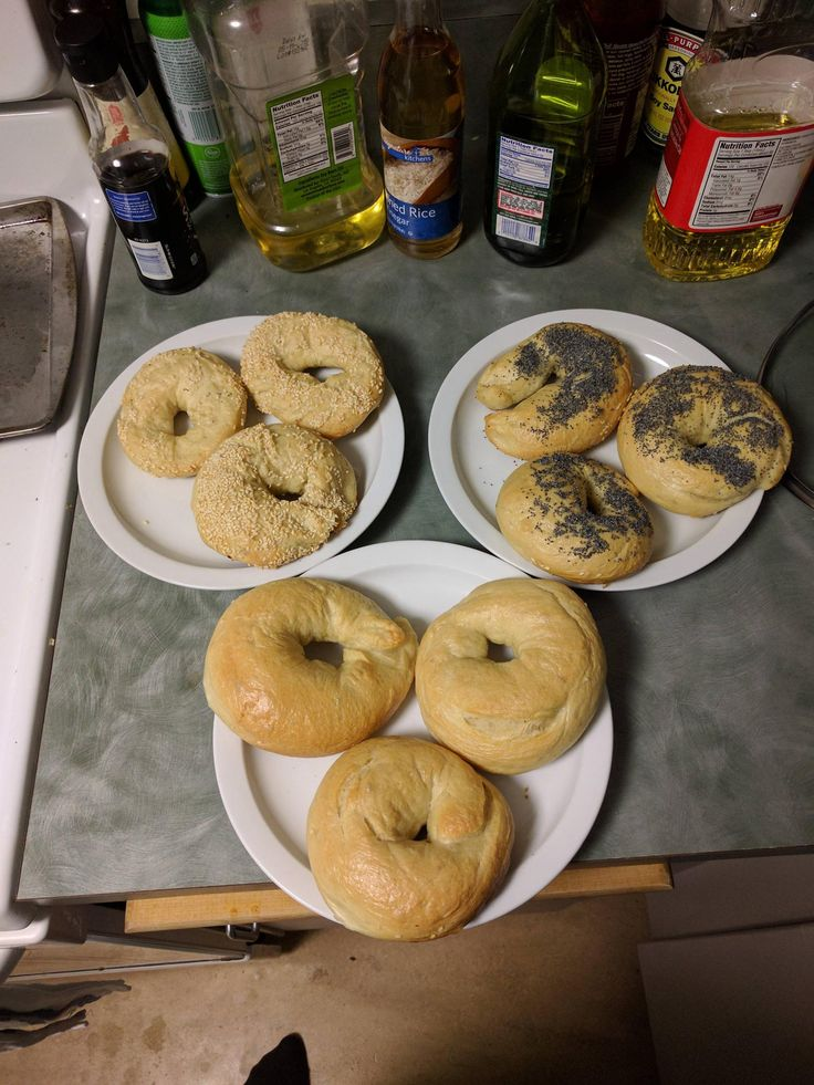 [Homemade] Bagels in plain poppyseed and sesame seed
