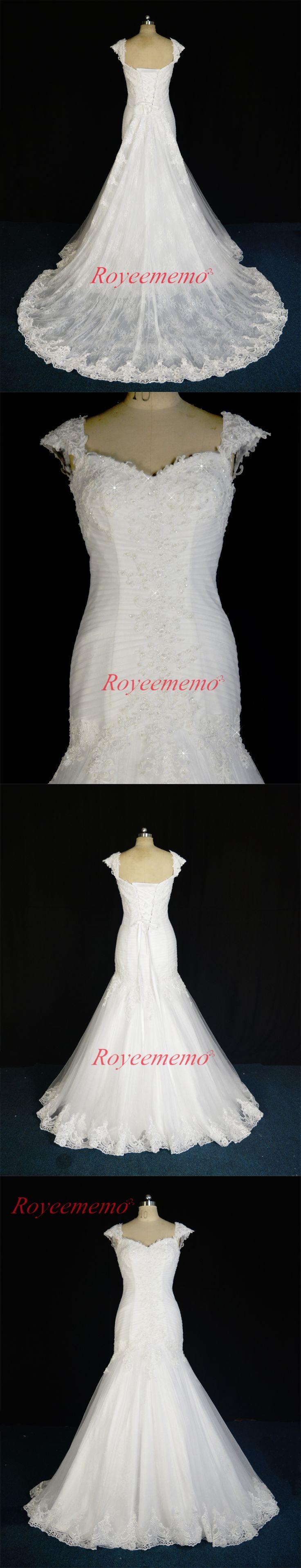 2017 new design lace mermaid detachable train Wedding dress hot sale bridal dress custom made factory supplier