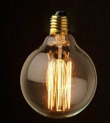 Bombilla foco vintage filamento carbono forma globo luz for Lamparas y plafones de pared