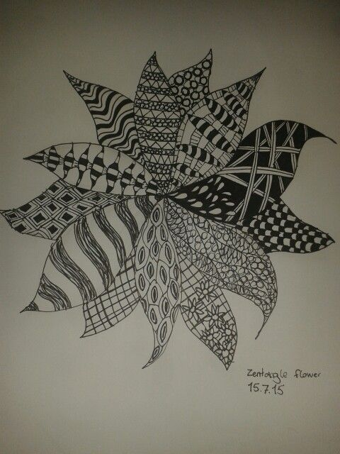 This is my fist Zentangle drawing, i know this is not perfect but its ok