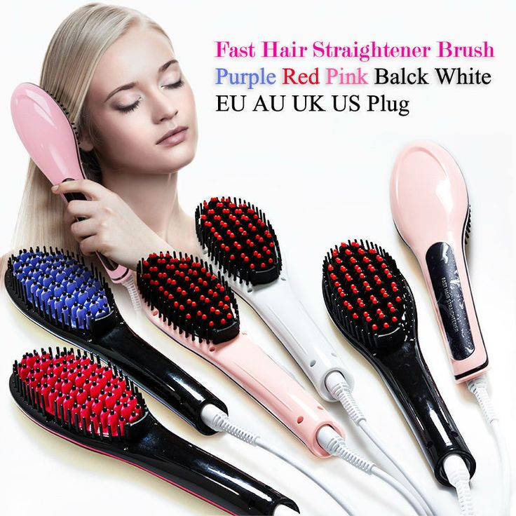 Hot Combs Electric Fast Hair Straightener Comb LCD Iron Brush Auto Massager Tool Electric Straightening Comb escova alisadora