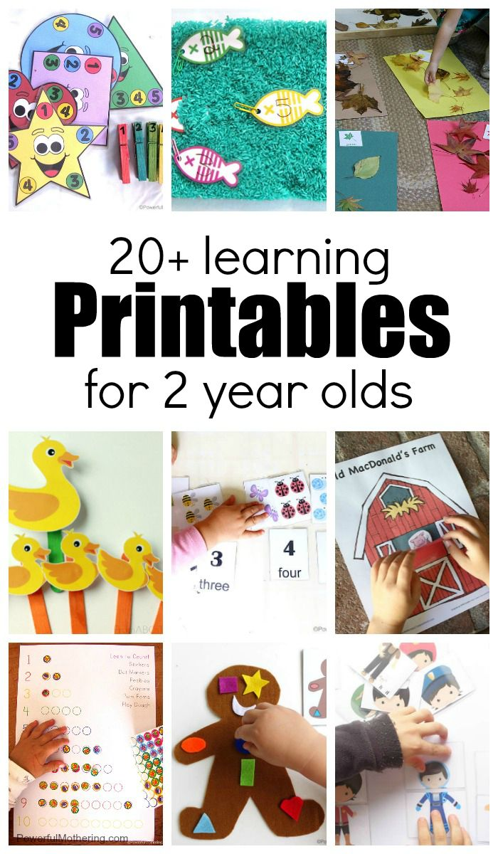 20+ Learning Activities and Printables for 2 Year Olds ...