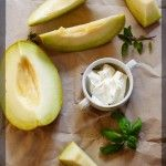 Îngheţată de pepene galben și busuioc și cum să câștigi o mașină de înghețată - KissTheCook