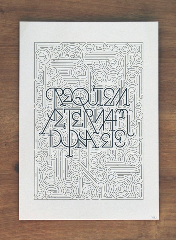50creations based on typography and graphic design | Blog du Webdesign