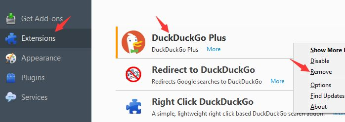 Which one is the official DuckDuckGo from Gabriel Weinberg? Then how to remove it from your own browser?