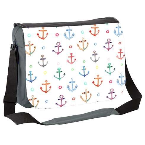 Anchors Messenger Bag by emmaallardsmith  A colourful design of hand-painted anchors.
