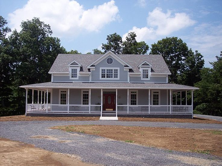 best 25 unique house plans ideas on pinterest home farmhouse style two story house has garage with dormers on side - 2 Story Country House Plans