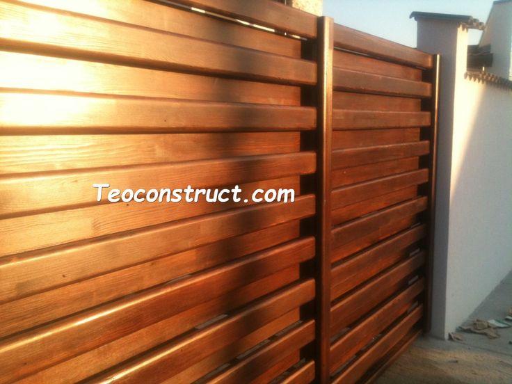 Modele porti din lemn