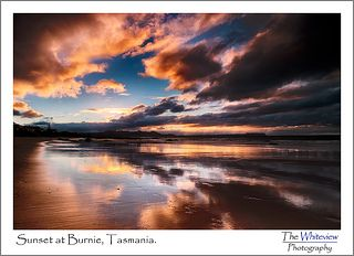 Sunset at Burnie, Tasmania