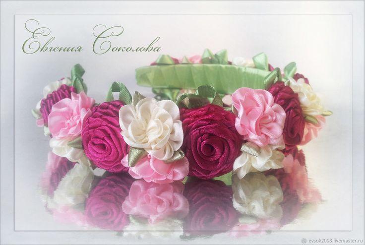 Купить Ободок с цветами в интернет магазине на Ярмарке Мастеров