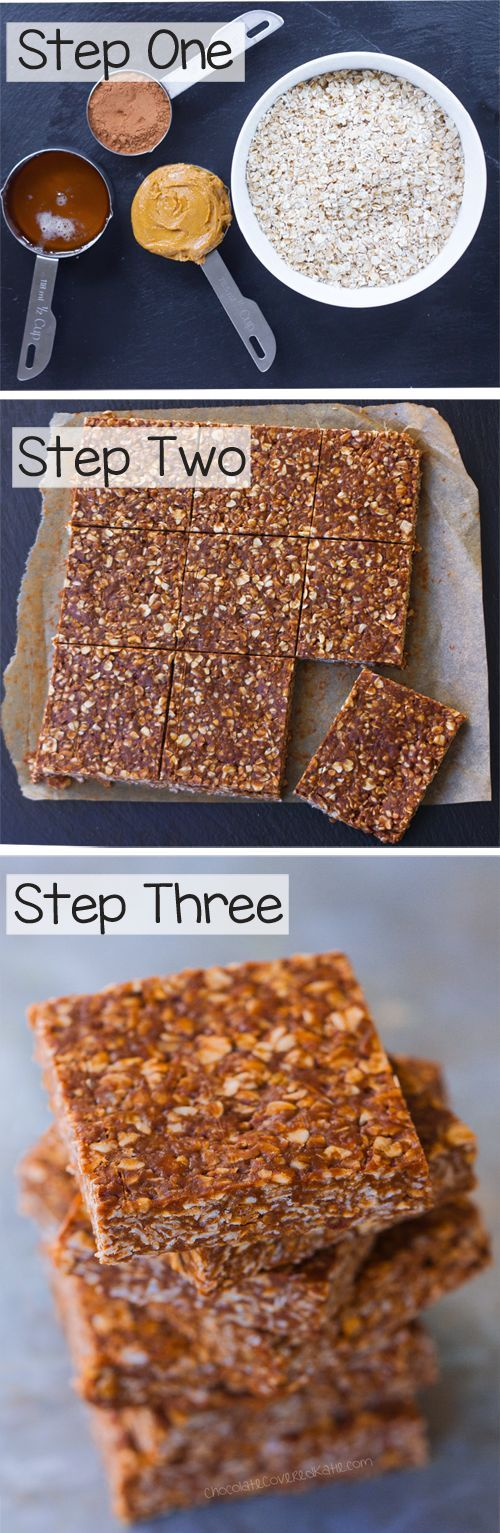 """A """"lightened up"""" version of those classic chocolate oatmeal no bake bars everyone loves so much: At first glance traditional chocolate no bake recipes—made with wholesome oatmeal instead of flour—might seem like a healthy choice. But with half a cup of butter and TWO full cups of refined sugar packed into traditional no bake …"""