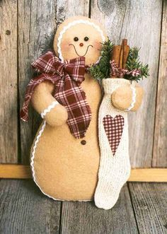 Fleece Gingerbread Man, Christmas Crafts