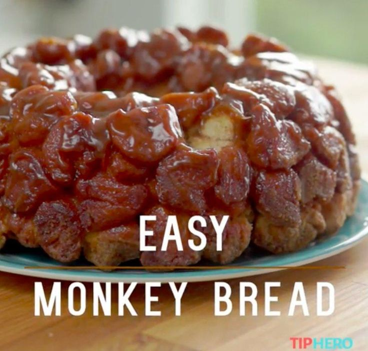 Easy Monkey Bread | Monkey bread, Sauces and Dough balls