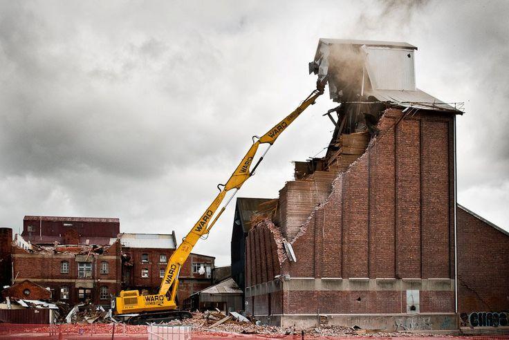brick coming down