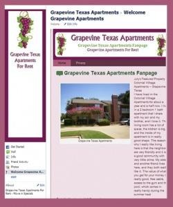 Grapevine TX Facebook Fan Page Design by iSocialDesign.