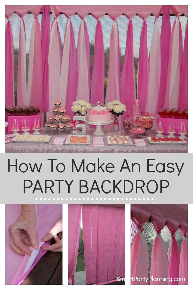 The Easiest DIY Party Backdrop This Is A Cheap And Easy That Can Be Prepared For An Outdoor Or Indoor Made Using Budget Plastic Tablecloths
