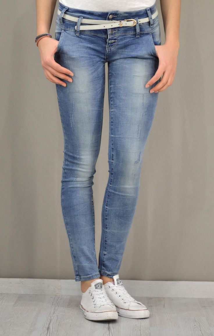 Γυναικείο τζίν skinny με ζώνη | Παντελόνια jeans - Jeans & Denims