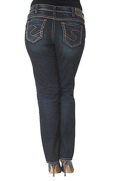 9076dc69a8a1 Silver Jeans Women's Suki Straight Jeans - Plus Size | Women's Jeans ...