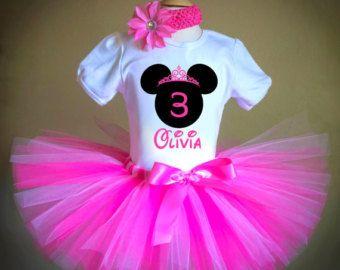 Red Minnie Tutu Outfit Birthday Tutu Outfit 1st por BabyBirthdayTee