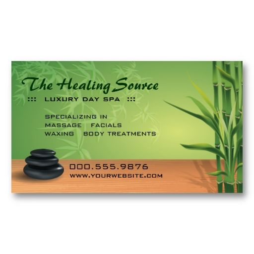 serene massage and spa appointment business card - Masseur Cover Letter