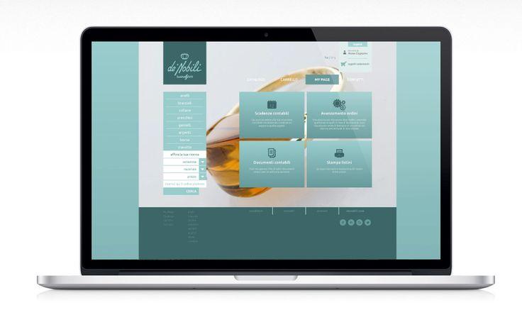 de'Nobili jewelry, e-commerce website.