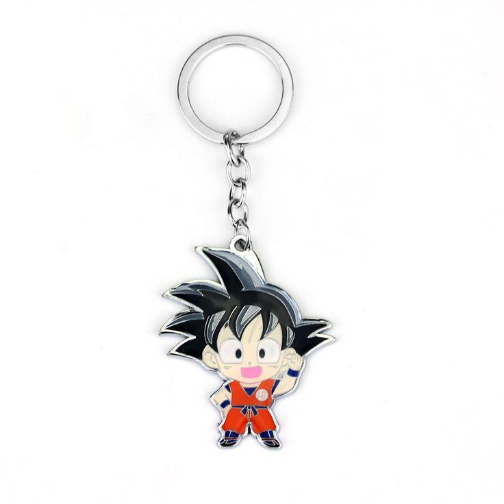 Anime Caractère Fils Goku Super Saiyan Porte-clés En Métal Populaire japon Bande Dessinée Dragon Ball Z Porte-clés Pour Hommes Et Femmes