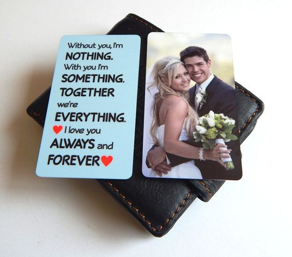 1st Wedding Anniversary Mini Photo Wallet Insert For Him Gift To My Husband From Wife Memory Hubby