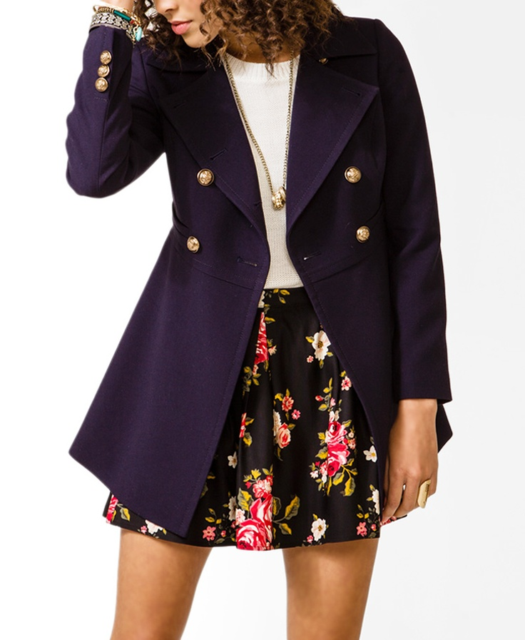 Double-Breasted Military Jacket #30percentoff #f21outerwear