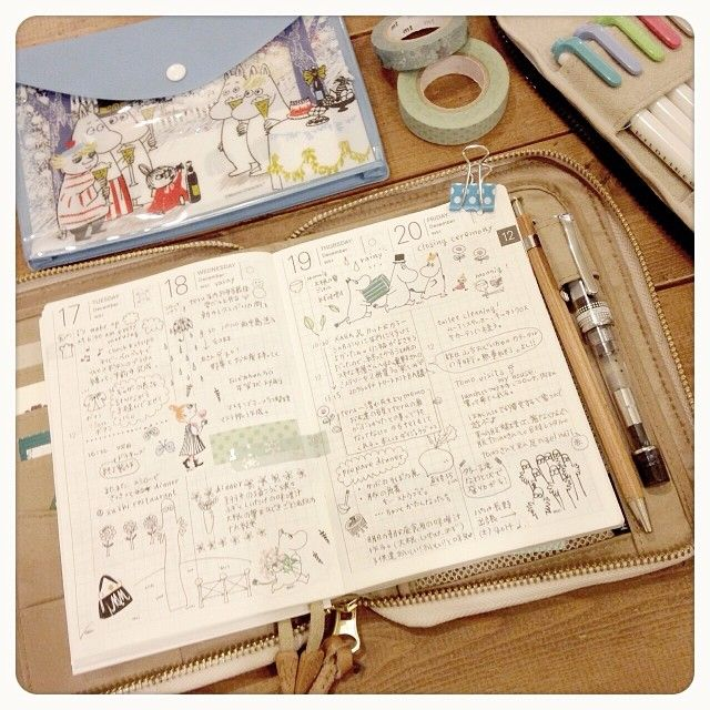 … MOE付録のムーミンシールをペタペタ。 は…勿体無いのでコピーして貼ってます((´艸`*)) 2014プランナーは分厚くならないように、なるべく貼らないようにイラスト多めで…とは思ってるけど、やっぱり色々貼りたくなっちゃいますね。 #yuttehobonichi#手帳#ほぼ日手帳#文房具#マスキングテープ#prerairoai#iroshizuku#色彩雫#MILDLINER#マイルドライナー#ムーミン